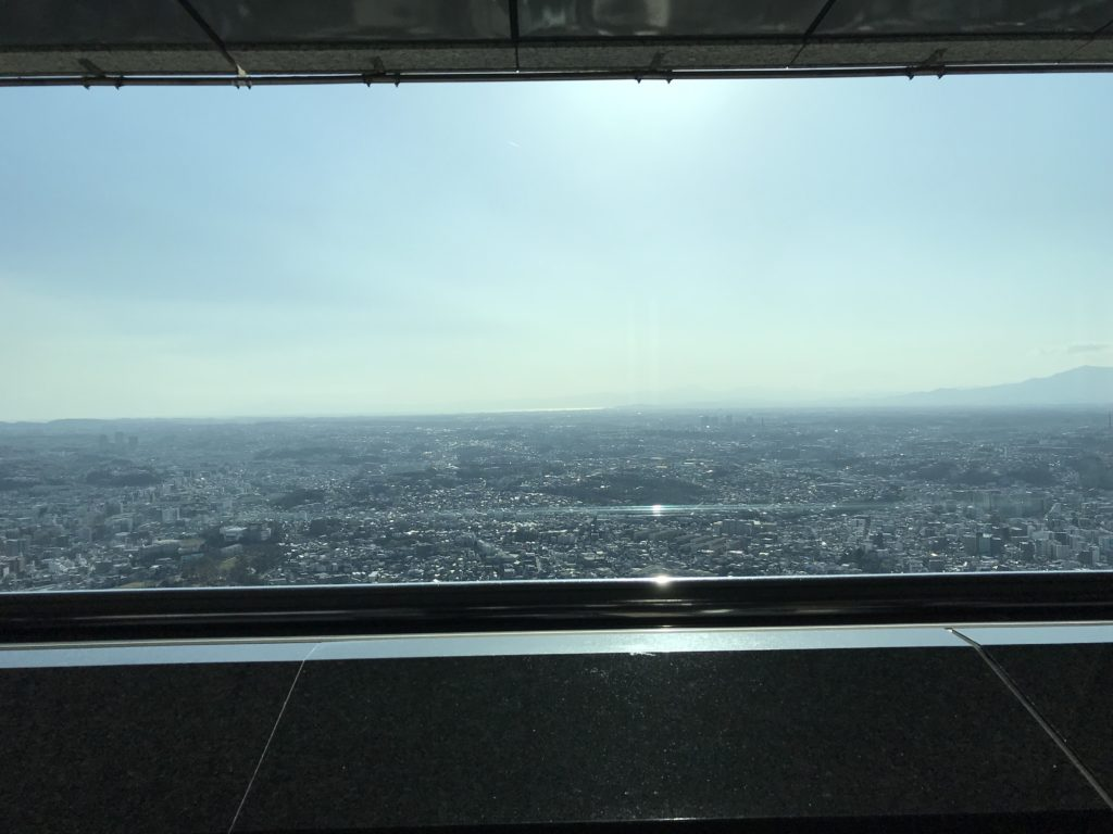 席から見える横浜の景色