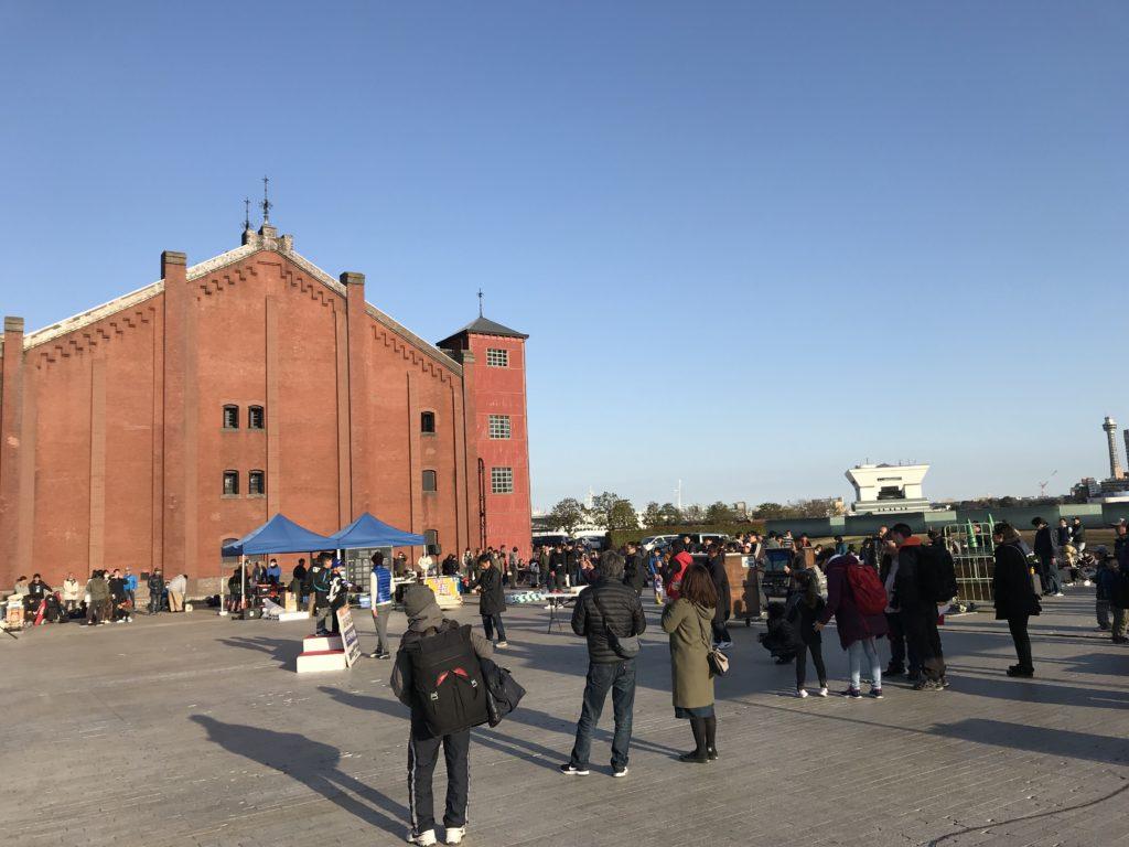 赤レンガ倉庫の広場