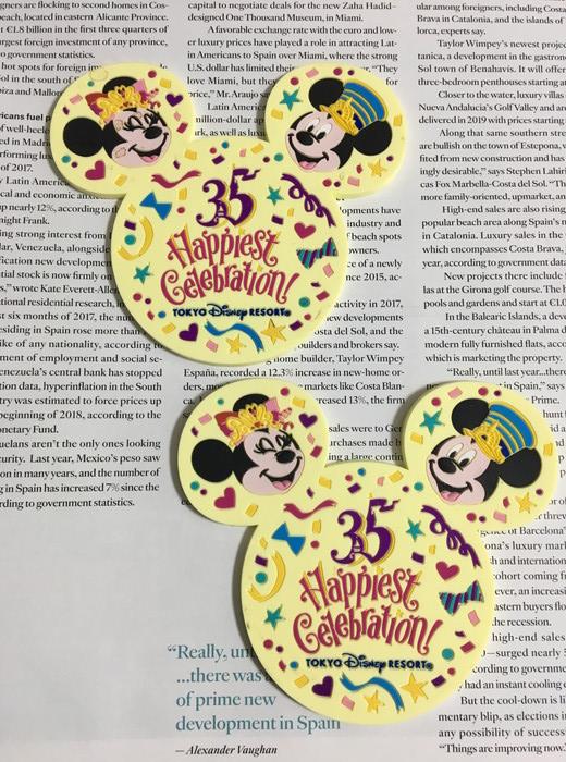 ディズニーランド35周年記念オリジナルコースター