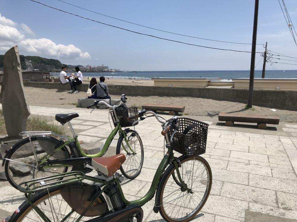 山本商会でレンタルした自転車