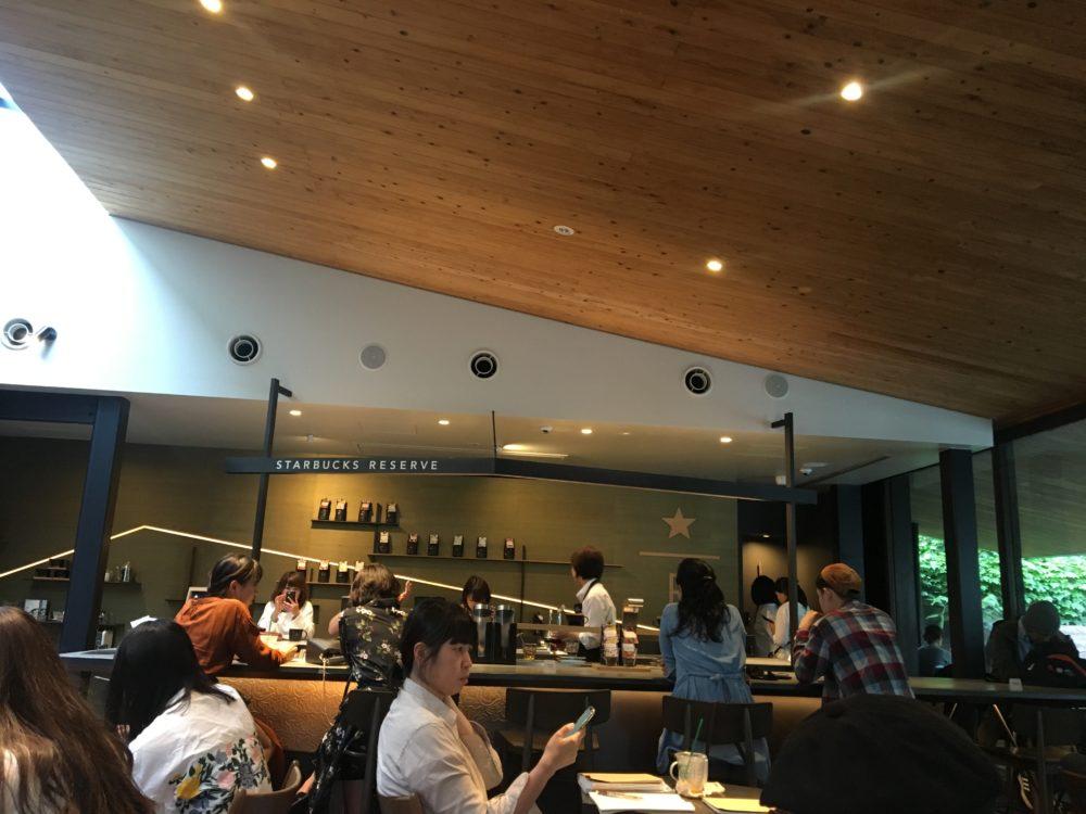 スターバックスコーヒー 鎌倉御成町店の店内