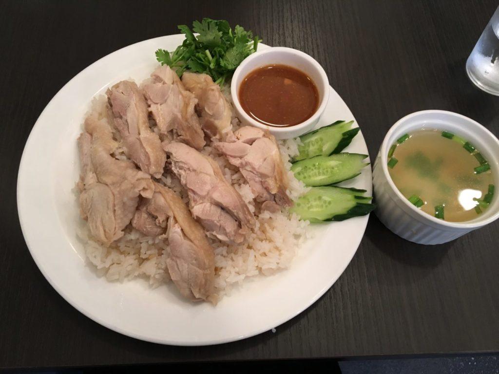 カオマンガイ スープ付き
