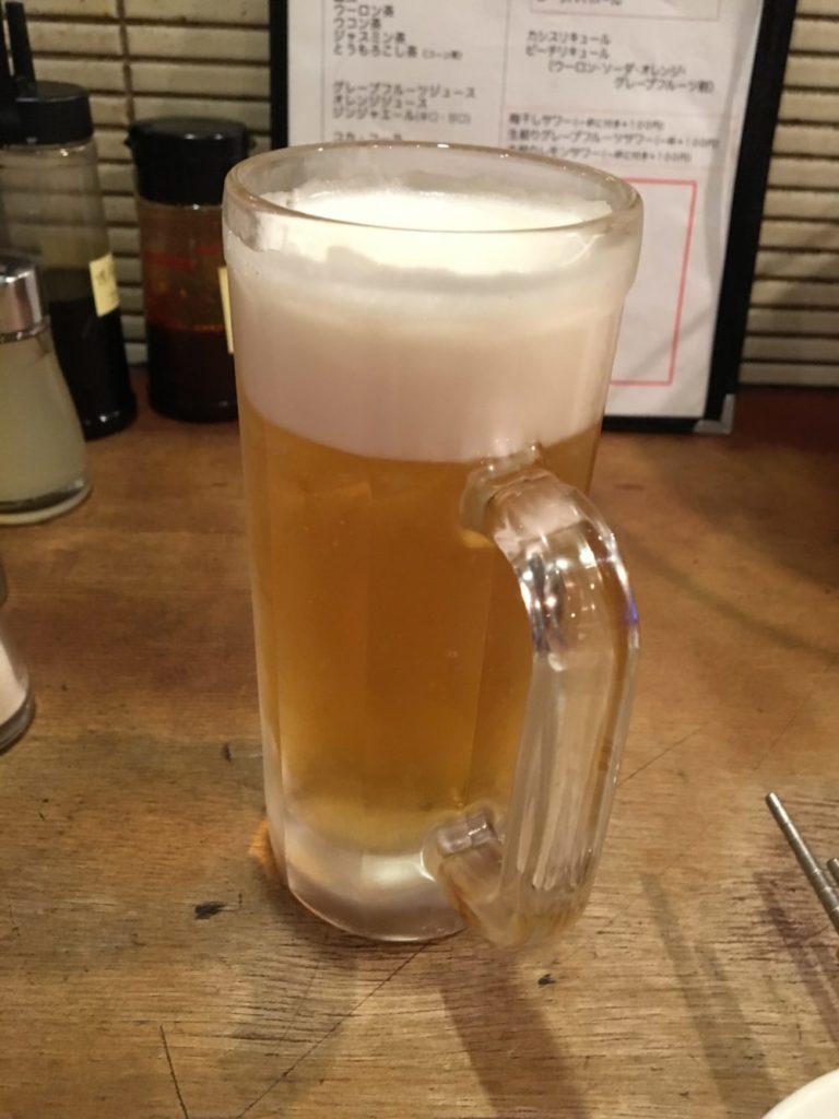 サッポロ黒ラベルの生ビールジョッキ