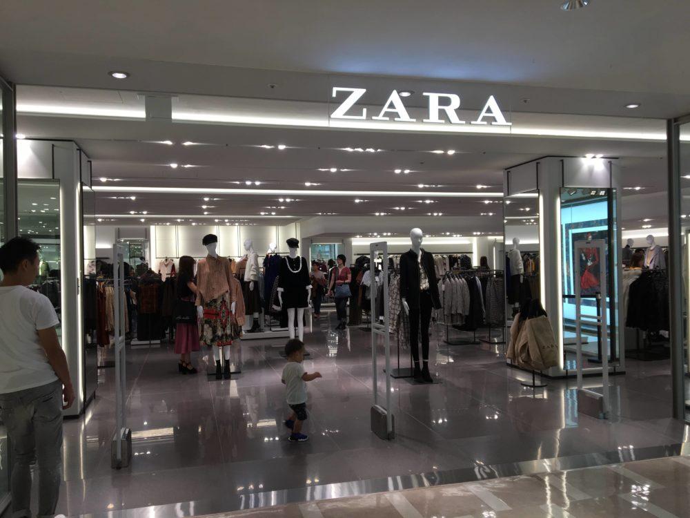 ZARA横浜マルイ店の外観