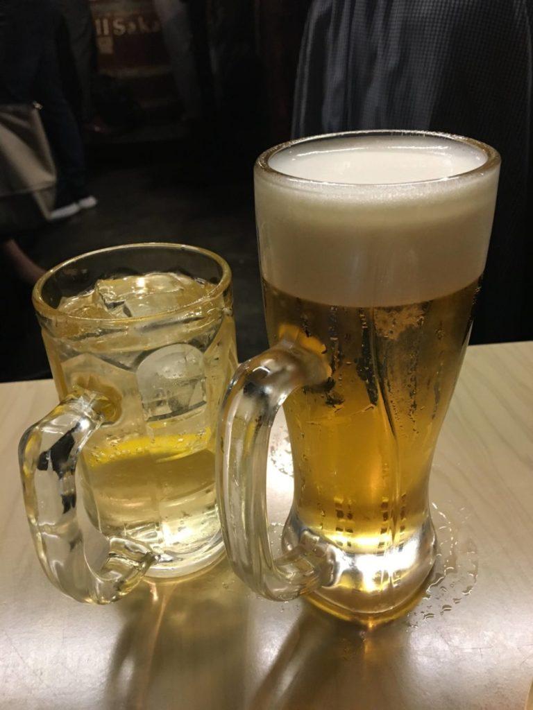 ビールとハイボール