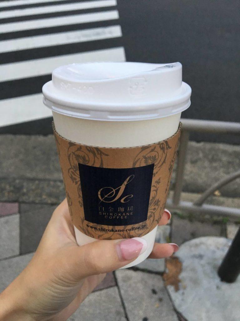 白金珈琲のカフェラテ