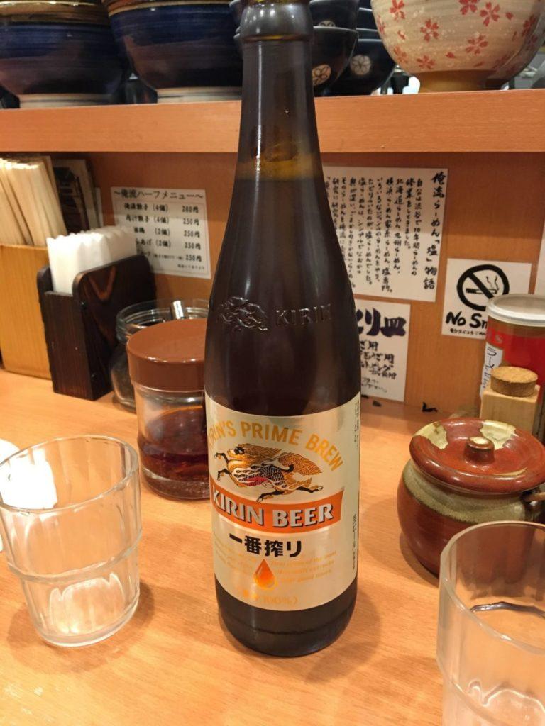 俺流塩ラーメン渋谷三丁目店の瓶ビール