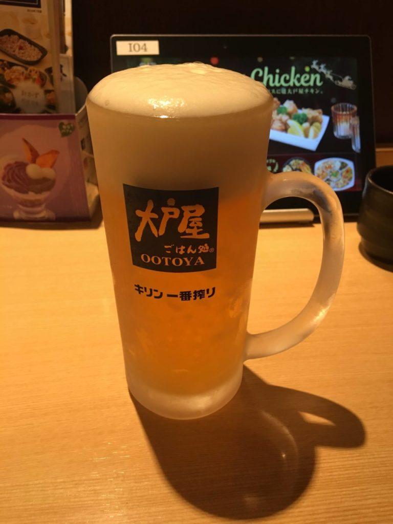 大戸屋の生ビール