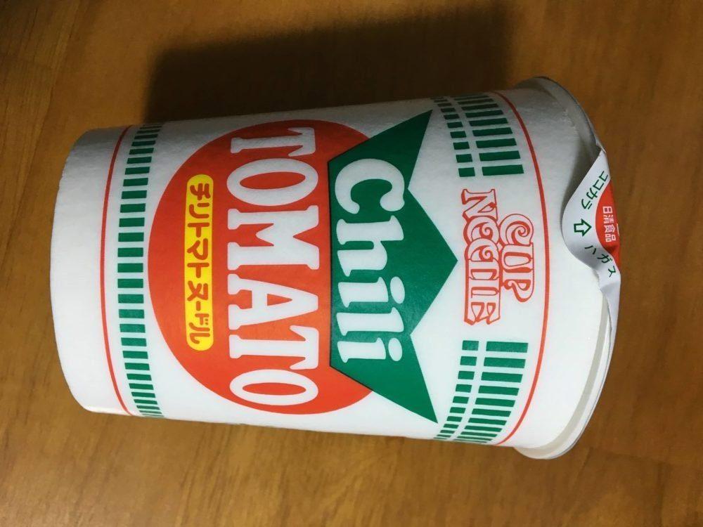 チリトマトヌードルのパッケージ