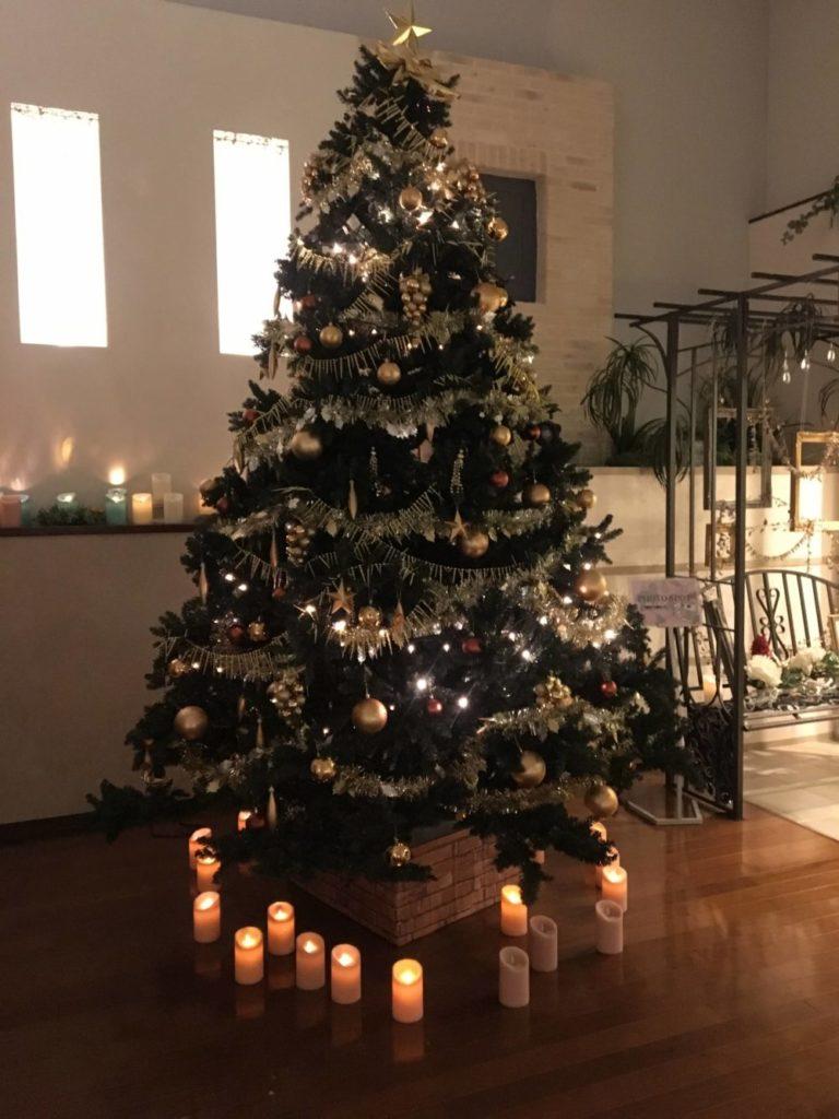 横浜天然温泉SPA EASのクリスマスツリー