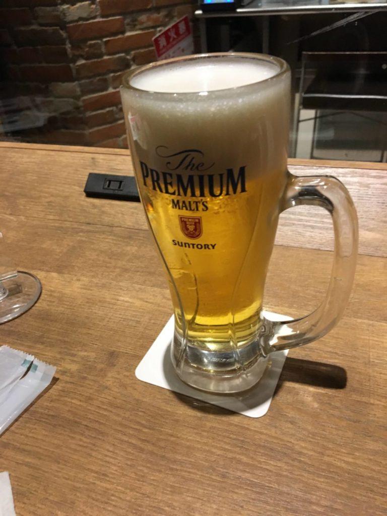 プロントの生ビール