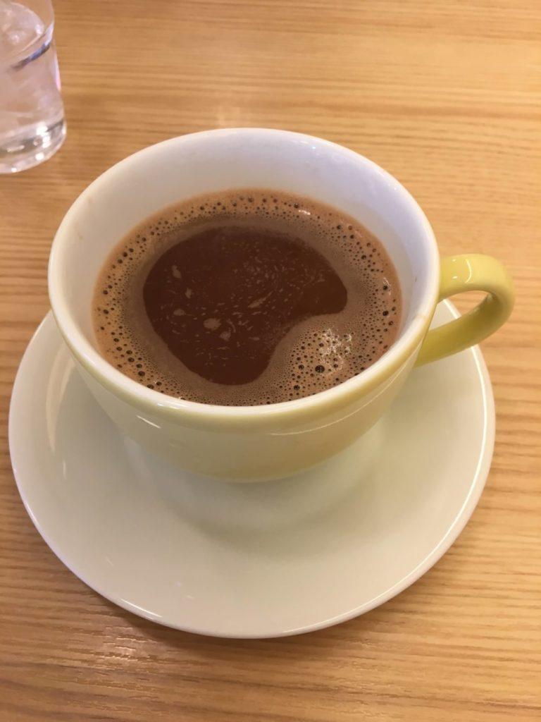 塩カフェのホットココア