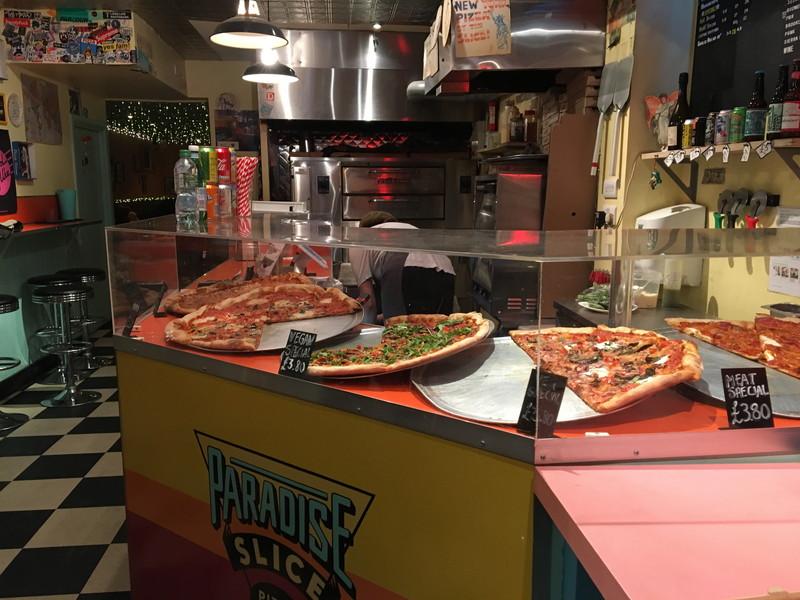 パラダイス スライスで頼んだピザ