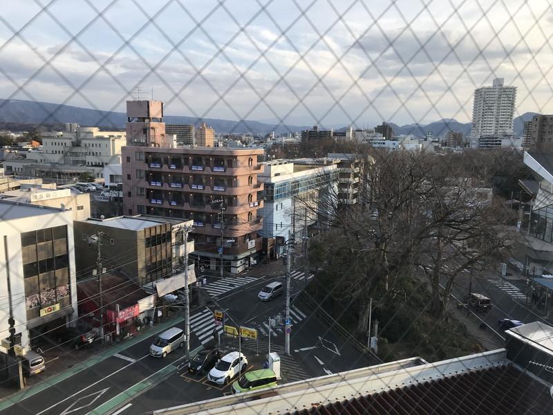 ホテル昭明館の8階 禁煙 ダブルルームの窓から見える風景