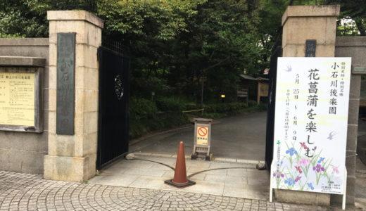 小石川後楽園で開催されていた「花菖蒲を楽しむ」に行って来た!