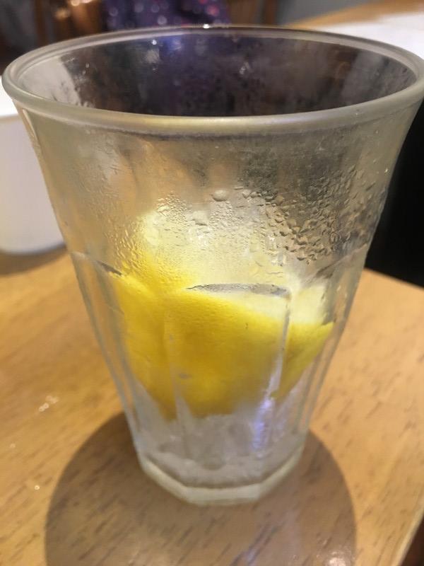 レモンのレモンサワーのアップ