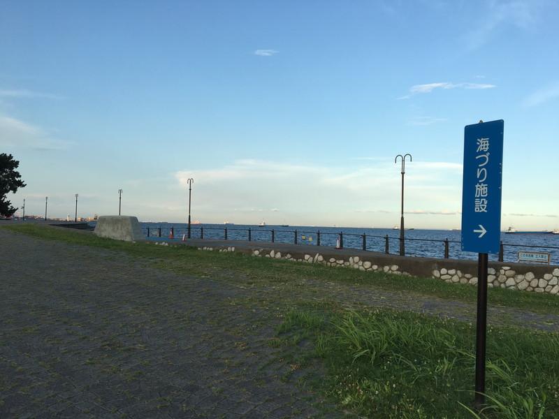 大黒海づり公園芝生エリア