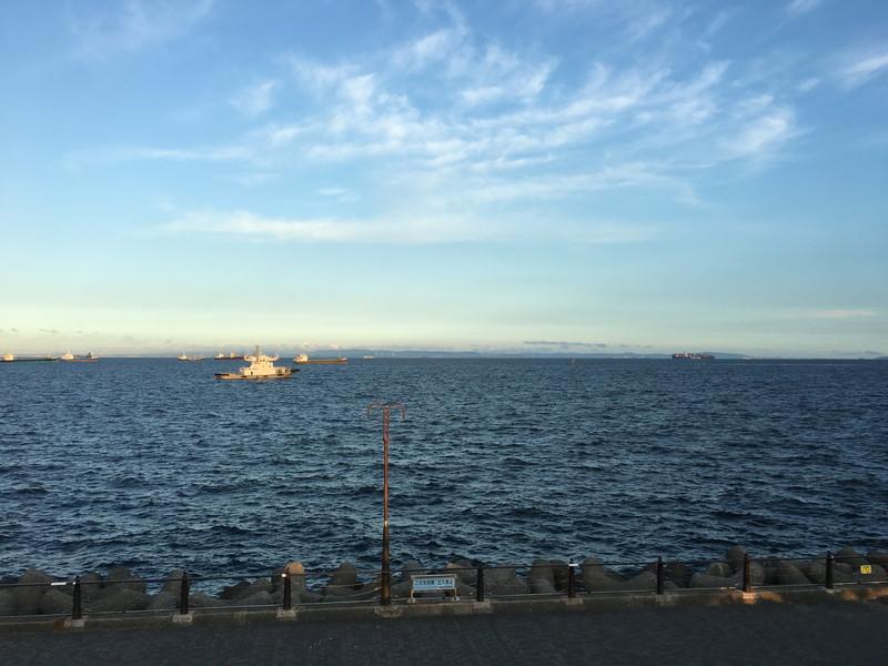 大黒海づり公園から見える東京湾