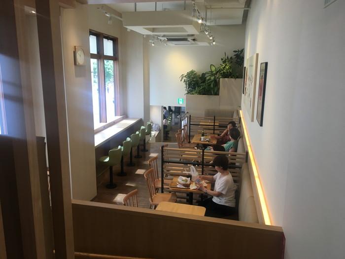 モスカフェ西銀座店の二階の席