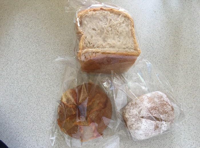パン屋水円で購入したパンのアップ