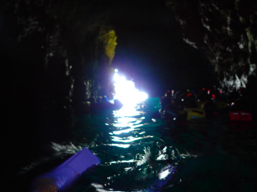 青の洞窟入り口付近