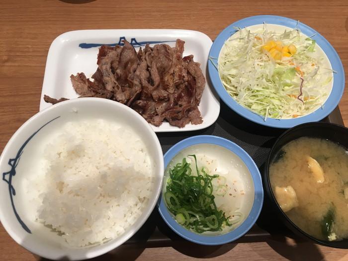 松屋 六本木店の牛焼定食