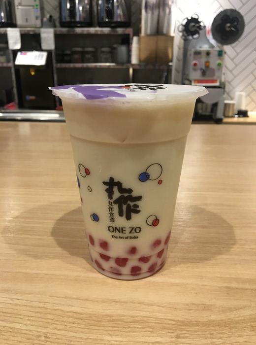 台湾サボテンタピオカ緑茶ラテ