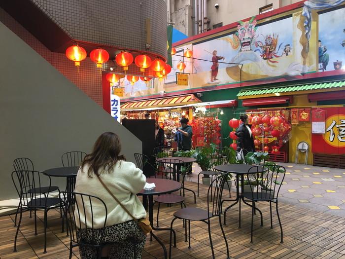 丸作食茶(ワンズオスーチャ) 横浜中華街店のテラス席