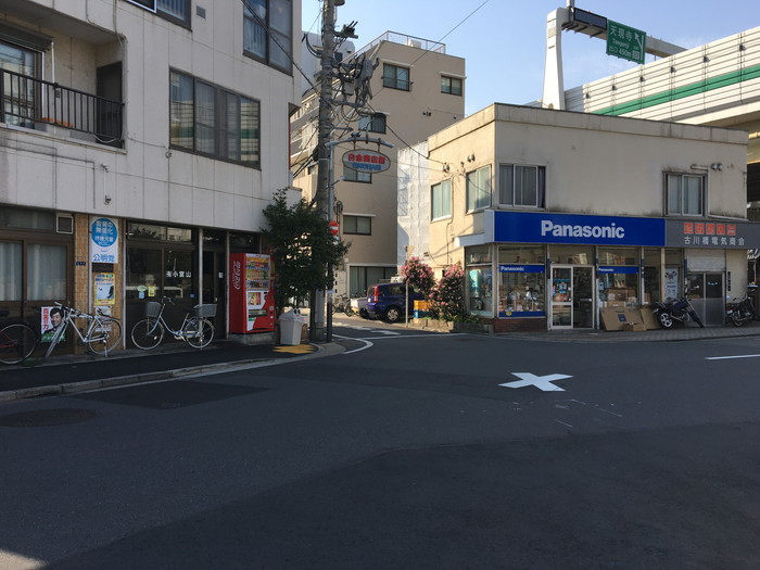 白金商店街への入り口